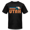 Utah T-Shirt - Retro Mountain Unisex Utah T Shirt - black