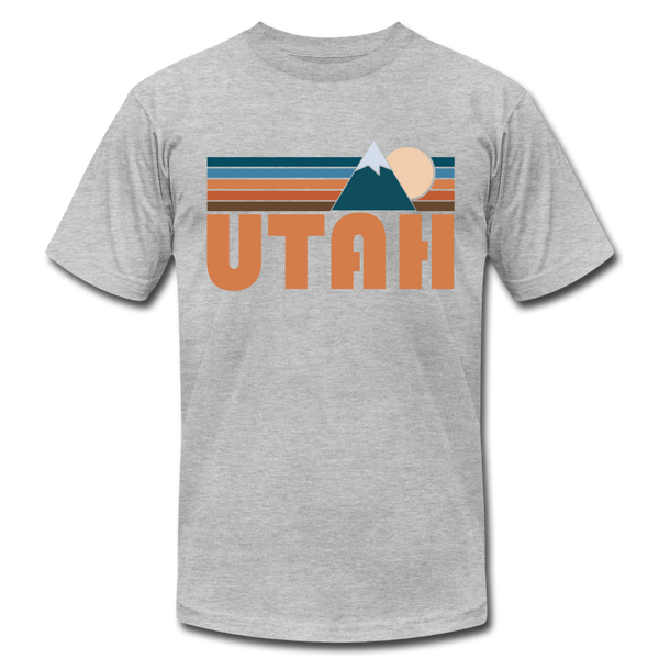Utah T-Shirt - Retro Mountain Unisex Utah T Shirt - heather gray
