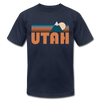 Utah T-Shirt - Retro Mountain Unisex Utah T Shirt - navy