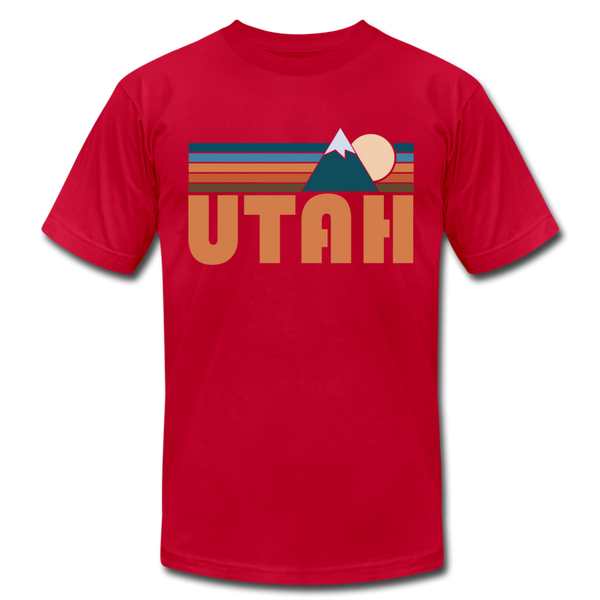 Utah T-Shirt - Retro Mountain Unisex Utah T Shirt - red
