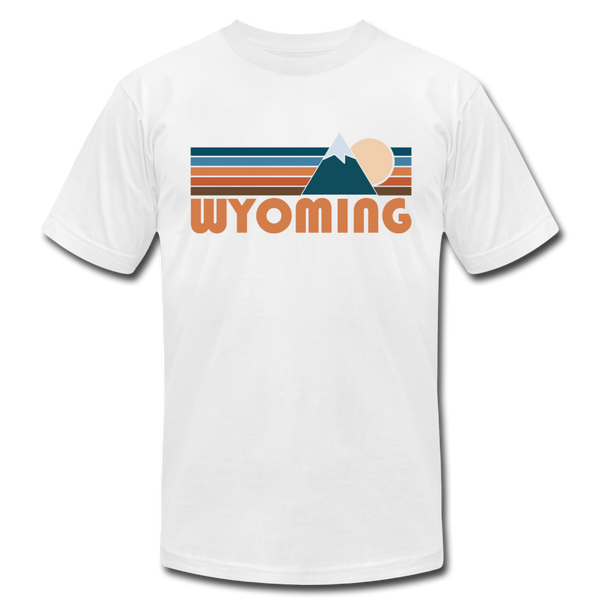 Wyoming T-Shirt - Retro Mountain Unisex Wyoming T Shirt - white