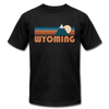 Wyoming T-Shirt - Retro Mountain Unisex Wyoming T Shirt - black
