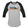 Crested Butte, Colorado Baseball T-Shirt - Retro Mountain Unisex Crested Butte Raglan T Shirt - heather gray/black