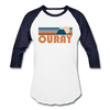 Ouray, Colorado Baseball T-Shirt - Retro Mountain Unisex Ouray Raglan T Shirt - white/navy