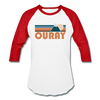 Ouray, Colorado Baseball T-Shirt - Retro Mountain Unisex Ouray Raglan T Shirt - white/red