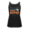 Aspen, Colorado Women's Tank Top - Retro Mountain Women's Aspen Tank Top - black
