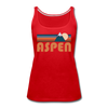 Aspen, Colorado Women's Tank Top - Retro Mountain Women's Aspen Tank Top - red