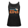 Aspen, Colorado Women's Tank Top - Retro Mountain Women's Aspen Tank Top - charcoal gray