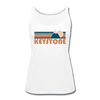Keystone, Colorado Women's Tank Top - Retro Mountain Women's Keystone Tank Top - white