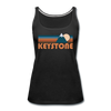 Keystone, Colorado Women's Tank Top - Retro Mountain Women's Keystone Tank Top - black