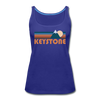 Keystone, Colorado Women's Tank Top - Retro Mountain Women's Keystone Tank Top - royal blue