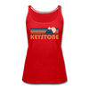 Keystone, Colorado Women's Tank Top - Retro Mountain Women's Keystone Tank Top - red