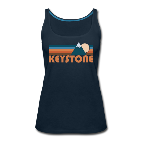Keystone, Colorado Women's Tank Top - Retro Mountain Women's Keystone Tank Top - deep navy