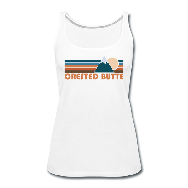 Crested Butte, Colorado Women's Tank Top - Retro Mountain Women's Crested Butte Tank Top - white