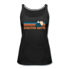 Crested Butte, Colorado Women's Tank Top - Retro Mountain Women's Crested Butte Tank Top - black