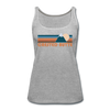 Crested Butte, Colorado Women's Tank Top - Retro Mountain Women's Crested Butte Tank Top - heather gray