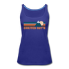 Crested Butte, Colorado Women's Tank Top - Retro Mountain Women's Crested Butte Tank Top - royal blue