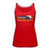 Crested Butte, Colorado Women's Tank Top - Retro Mountain Women's Crested Butte Tank Top - red