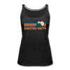 Crested Butte, Colorado Women's Tank Top - Retro Mountain Women's Crested Butte Tank Top - charcoal gray