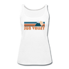 Sun Valley, Idaho Women's Tank Top - Retro Mountain Women's Sun Valley Tank Top - white