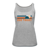 Sun Valley, Idaho Women's Tank Top - Retro Mountain Women's Sun Valley Tank Top - heather gray