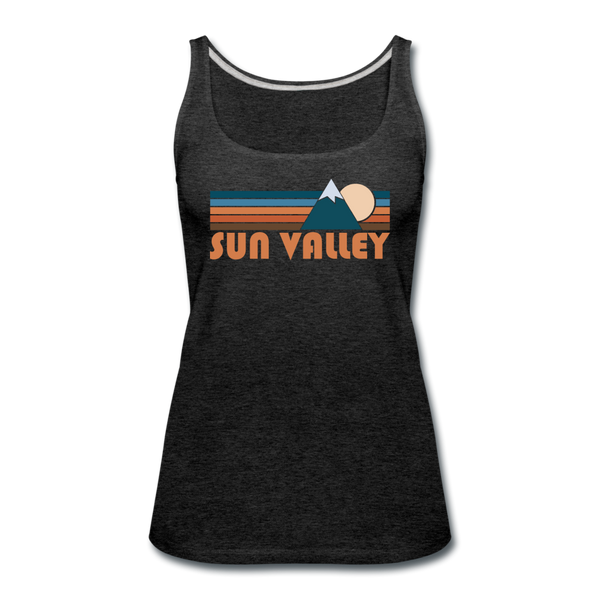 Sun Valley, Idaho Women's Tank Top - Retro Mountain Women's Sun Valley Tank Top - charcoal gray