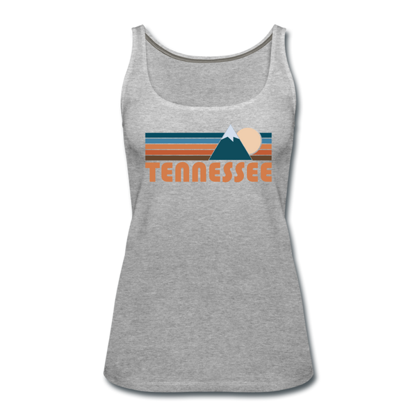 Tennessee Women's Tank Top - Retro Mountain Women's Tennessee Tank Top - heather gray