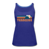 Tennessee Women's Tank Top - Retro Mountain Women's Tennessee Tank Top - royal blue