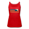 Tennessee Women's Tank Top - Retro Mountain Women's Tennessee Tank Top - red