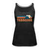 Tennessee Women's Tank Top - Retro Mountain Women's Tennessee Tank Top - charcoal gray