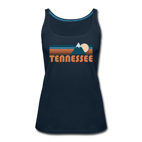 Tennessee Women's Tank Top - Retro Mountain Women's Tennessee Tank Top - deep navy