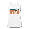 Utah Women's Tank Top - Retro Mountain Women's Utah Tank Top - white