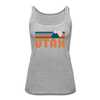 Utah Women's Tank Top - Retro Mountain Women's Utah Tank Top - heather gray