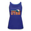 Utah Women's Tank Top - Retro Mountain Women's Utah Tank Top - royal blue