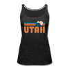 Utah Women's Tank Top - Retro Mountain Women's Utah Tank Top - charcoal gray