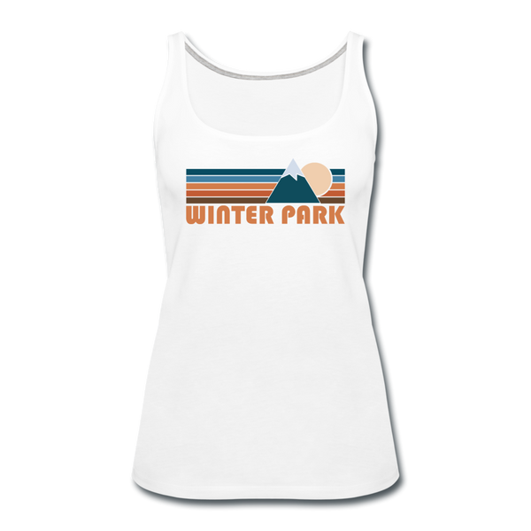 Winter Park, Colorado Women's Tank Top - Retro Mountain Women's Winter Park Tank Top - white
