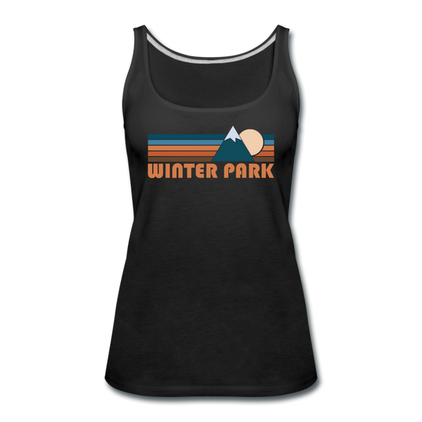 Winter Park, Colorado Women's Tank Top - Retro Mountain Women's Winter Park Tank Top - black