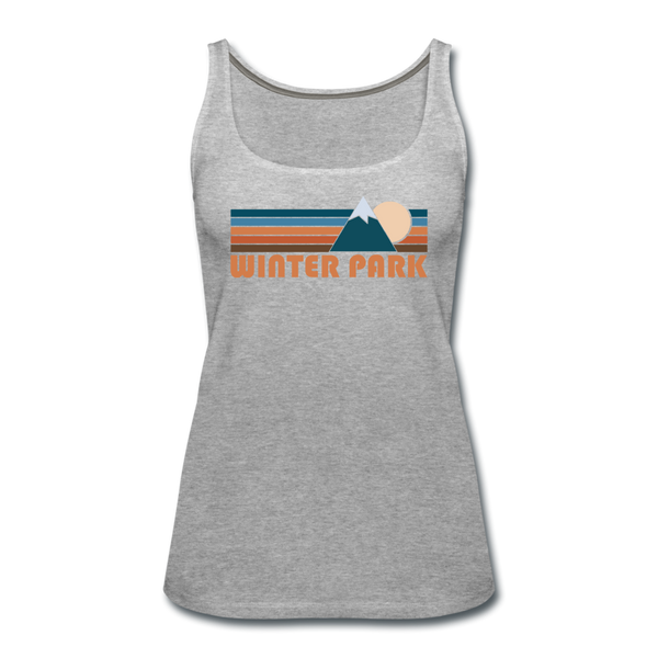 Winter Park, Colorado Women's Tank Top - Retro Mountain Women's Winter Park Tank Top - heather gray