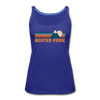 Winter Park, Colorado Women's Tank Top - Retro Mountain Women's Winter Park Tank Top - royal blue
