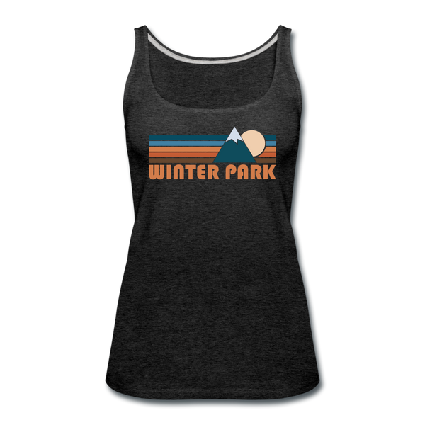 Winter Park, Colorado Women's Tank Top - Retro Mountain Women's Winter Park Tank Top - charcoal gray