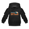 Big Bear, California Youth Hoodie - Retro Mountain Youth Big Bear Hooded Sweatshirt - black