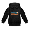 Big Bear, California Youth Hoodie - Retro Mountain Youth Big Bear Hooded Sweatshirt - charcoal gray