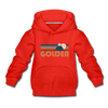 Golden, Colorado Youth Hoodie - Retro Mountain Youth Golden Hooded Sweatshirt - red