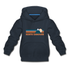 North Carolina Youth Hoodie - Retro Mountain Youth North Carolina Hooded Sweatshirt - navy