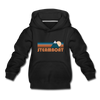 Steamboat, Colorado Youth Hoodie - Retro Mountain Youth Steamboat Hooded Sweatshirt - black