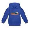 Steamboat, Colorado Youth Hoodie - Retro Mountain Youth Steamboat Hooded Sweatshirt - royal blue