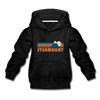 Steamboat, Colorado Youth Hoodie - Retro Mountain Youth Steamboat Hooded Sweatshirt - charcoal gray