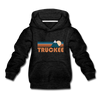 Truckee, California Youth Hoodie - Retro Mountain Youth Truckee Hooded Sweatshirt - charcoal gray
