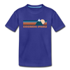 Colorado Springs, Colorado Youth T-Shirt - Retro Mountain Youth Colorado Springs Tee - royal blue