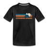 Colorado Springs, Colorado Youth T-Shirt - Retro Mountain Youth Colorado Springs Tee - charcoal gray